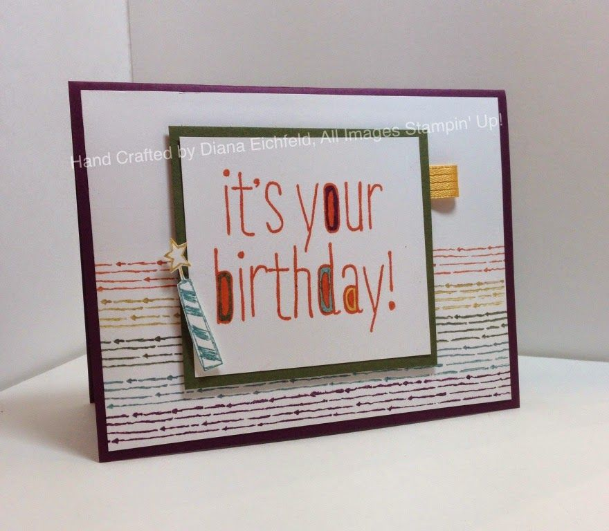 Stampin' Fun with Diana: Fab Friday Color Challenge: Big News, Stampin' Up, Diana Eichfeld, Chalk Lines
