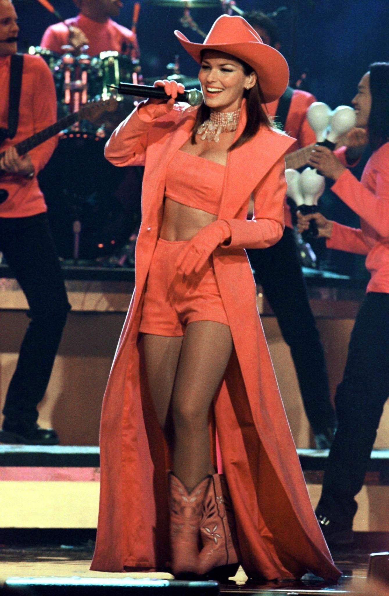 Shania Twain Orange Boots Colororange Country Music