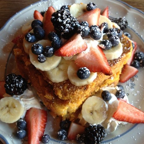 Captain Crunch French Toast @ Blue Moon Cafe in Baltimore, MD. Yummy!