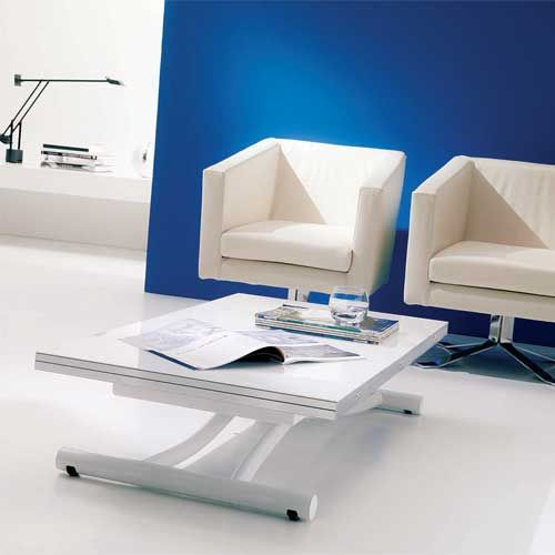 Magic coffee table that turns into a dining table Love the gloss
