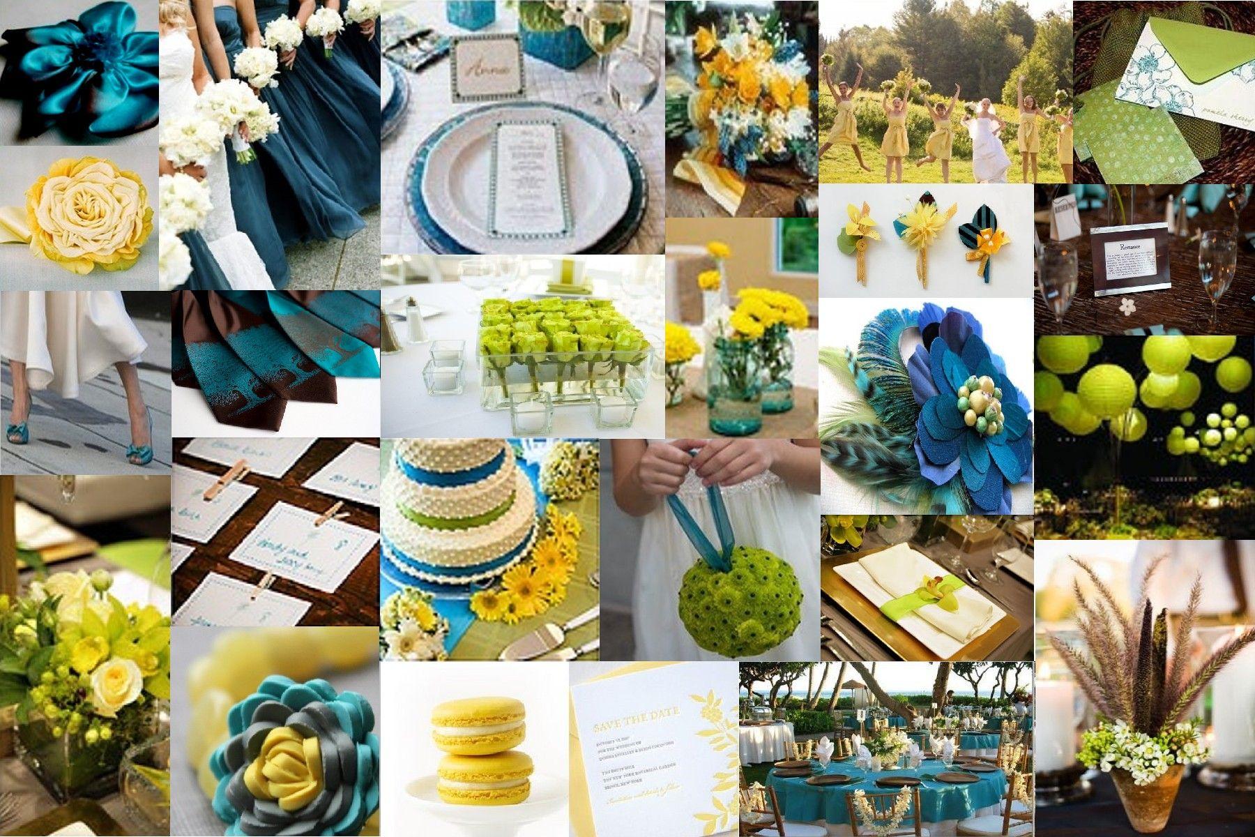 Blue, green, yellow, teal Wedding Ideas Pinterest