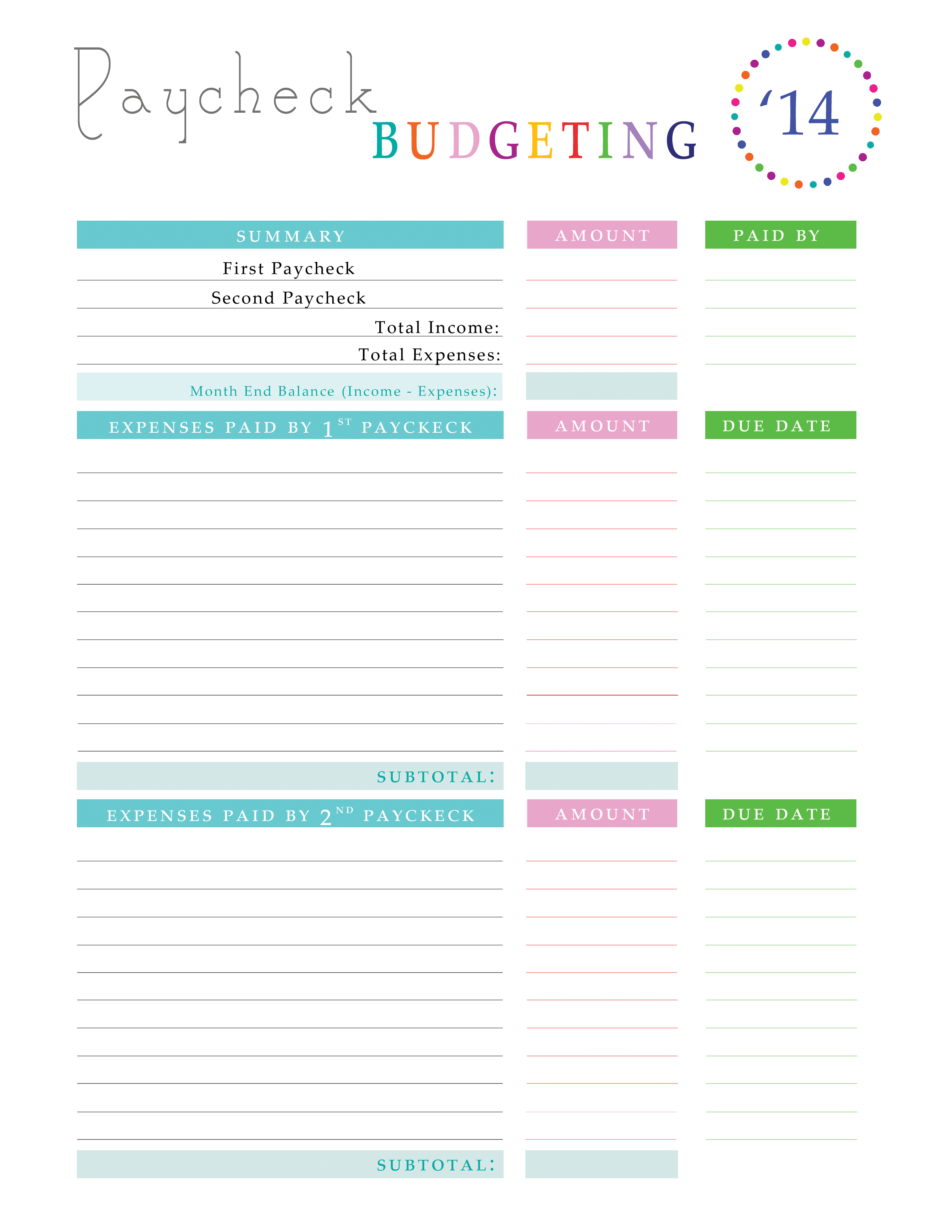 paying off debt worksheets checklists and printables for