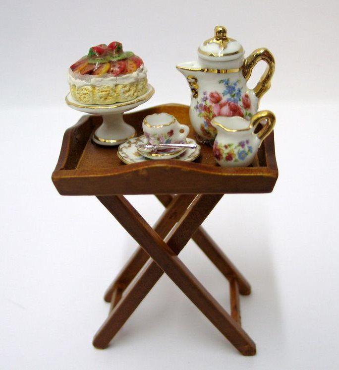 Porzellan Puppenhaus Möbel Dekoration Miniaturen 1:12   R16140 / EAN: