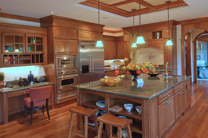 Luxus Holzküche mit großen Insel Küche Pinterest - küchen luxus design