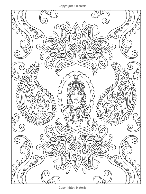 Creative Haven Magnificent Mehndi Designs Coloring Book: Marty Noble