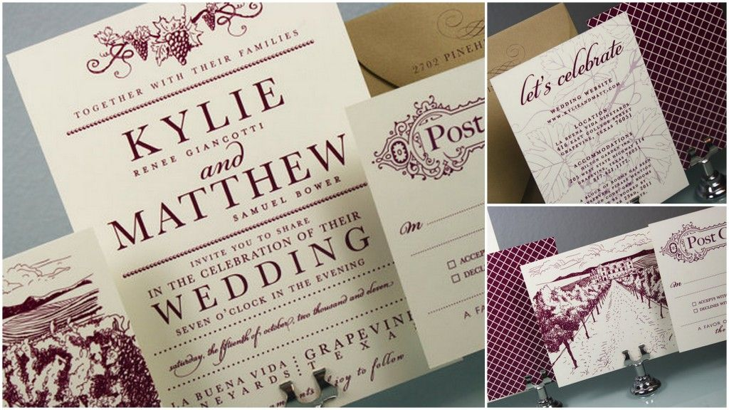 17 Best images about Wedding Invitations – Wine Country Wedding Invitations