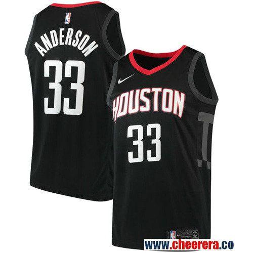 Men's Nike Houston Rockets #33 Ryan Anderson Black NBA Swingman Statement Edition  Jersey