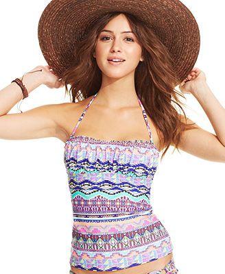 f0c0597e1cd50 Hobie Tribal-Print Bandeau Tankini Top | :SUMMER: | Pinterest ...