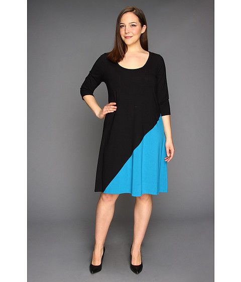 Karen Kane Plus Plus Size Diagonal Block Dress Plus Size Dresses