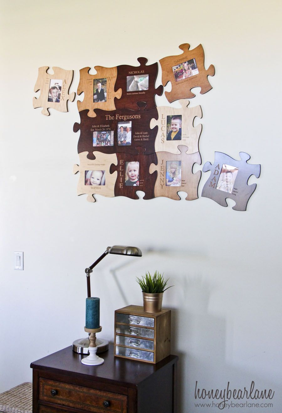 Puzzle Photo Frames Gift | Pinterest | Puzzle pieces, Wood projects ...