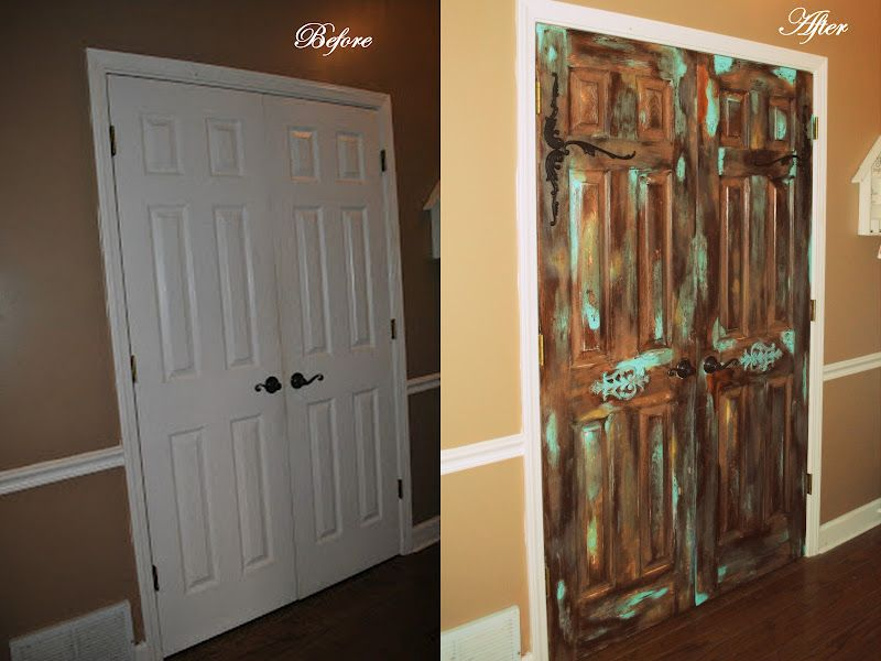Fiberglass Pantry Doors Gel Stained And Antiqued To Look