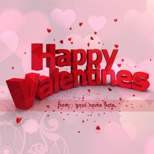 Happy Valentine Day Wishes Image With My Name Valentine Day
