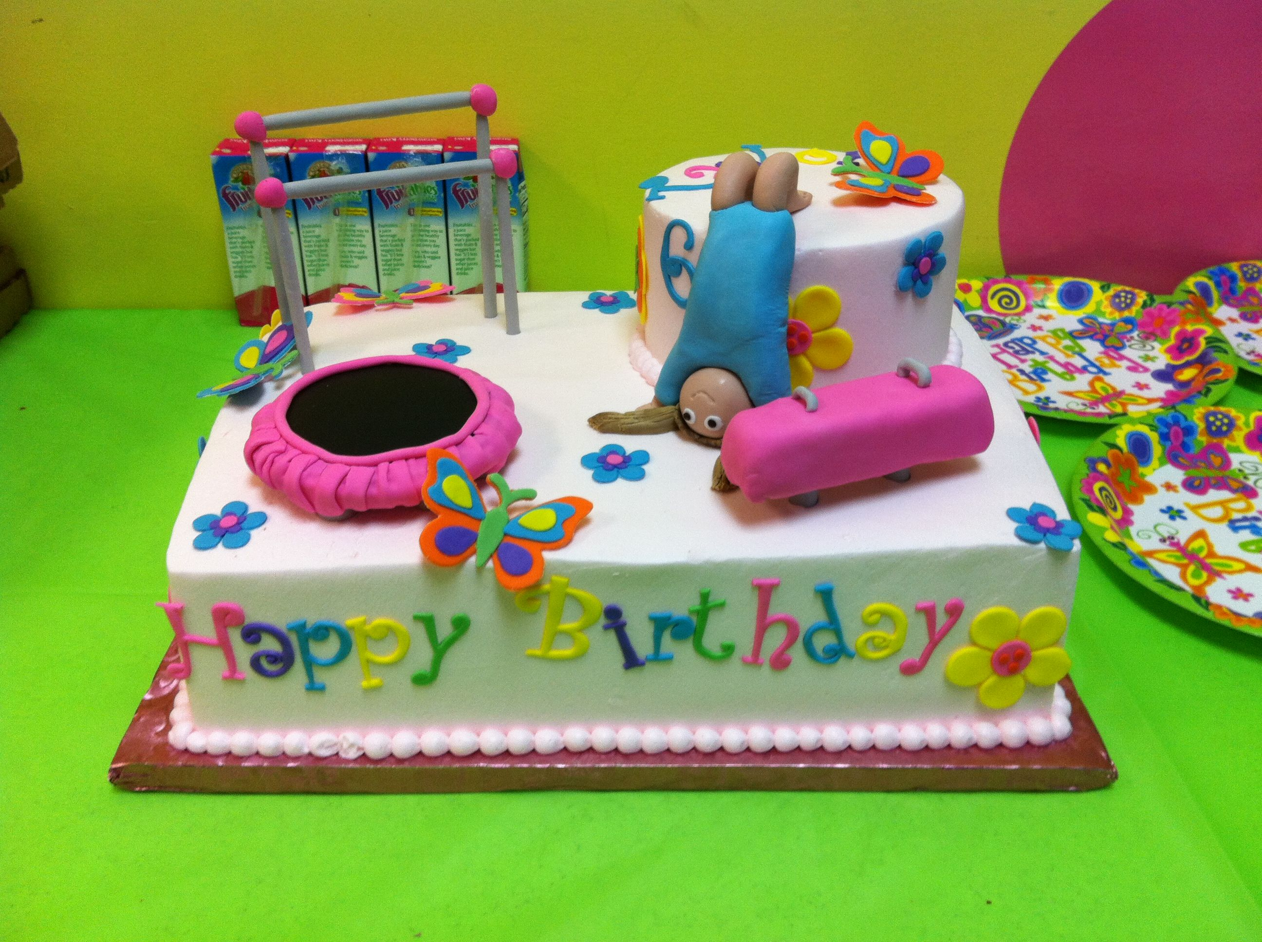Pin Gymnastics Birthday Cake Pinterest Wallpaper