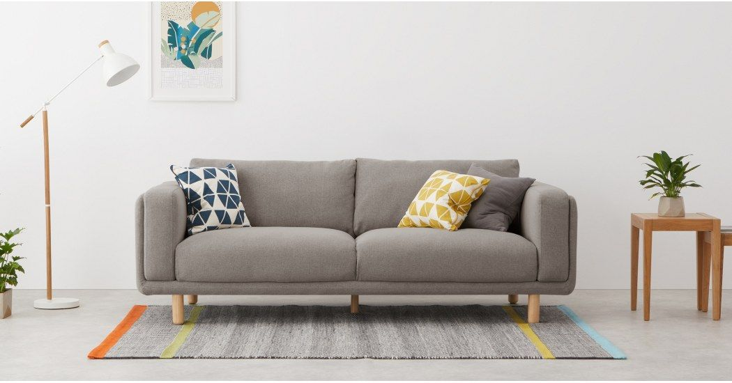 Karson 3 Sitzer Sofa Grau Made Com 2 Sitzer Sofa 3 Sitzer Sofa Inneneinrichtung