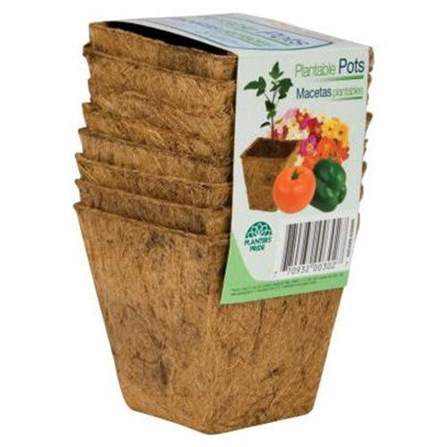 8 Count 3 Square Fiber Grow Coconut Coir Plantable Pots List Price: $9.60 (Save 75%) Today $2.31 + $6.51 SHIPPING