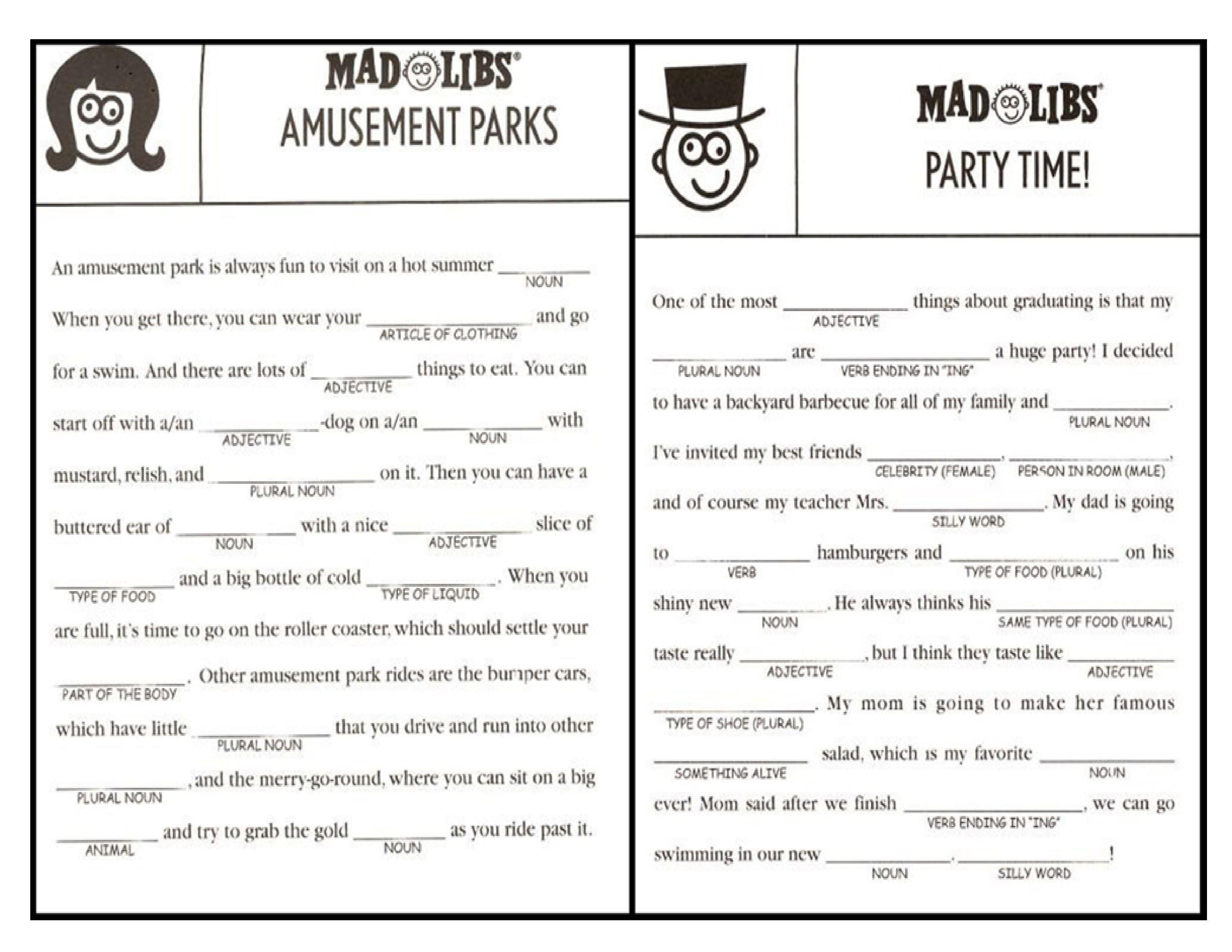 Gorgeous image regarding mad lib printable
