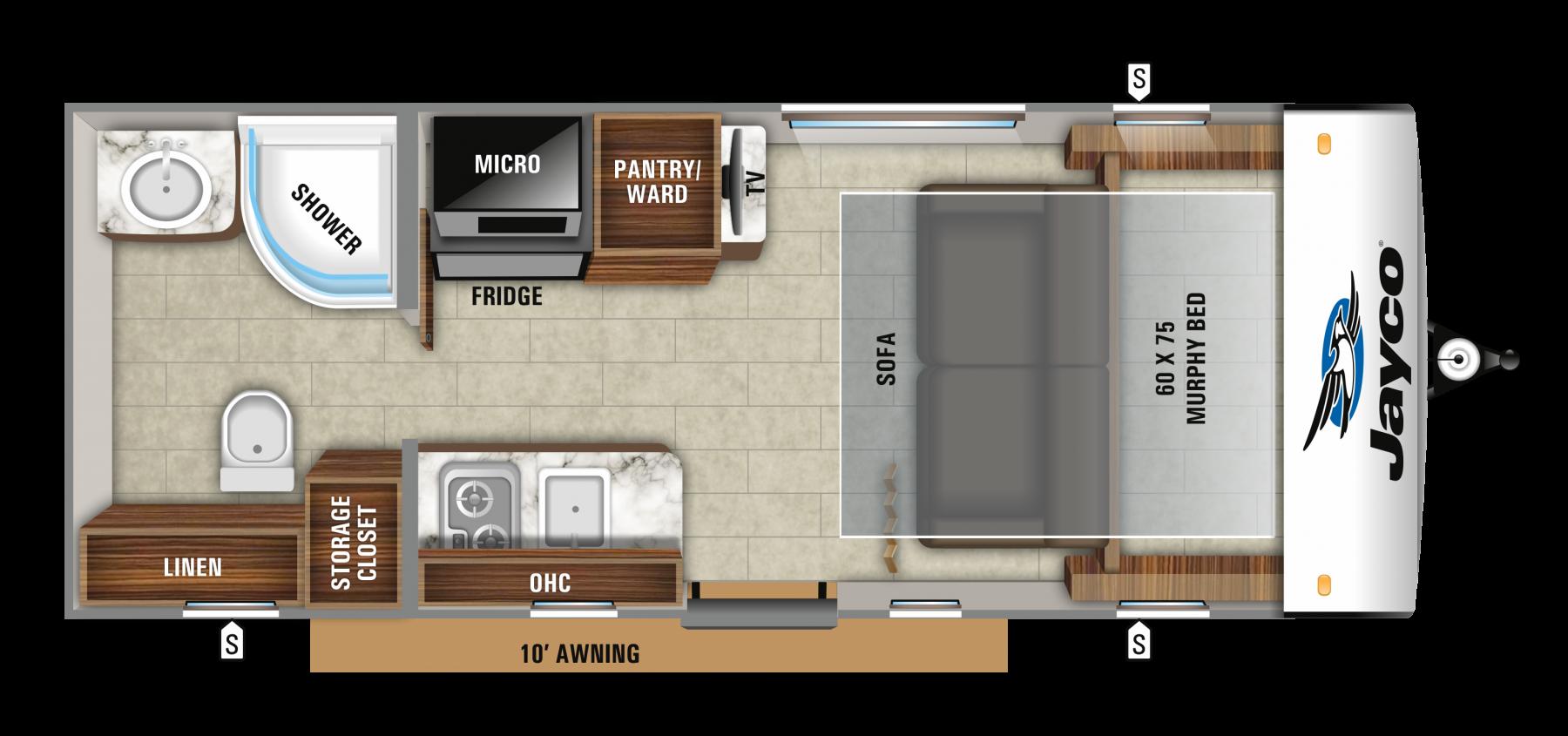 2019 Jayco Hummingbird Floor Plans Rv Spotlight Travel Trailer Floor Plans Small Travel Trailers Jayco