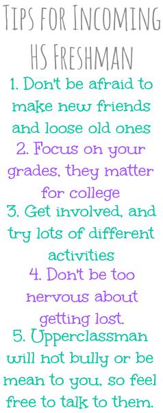 advice to incoming freshmen in high school essay