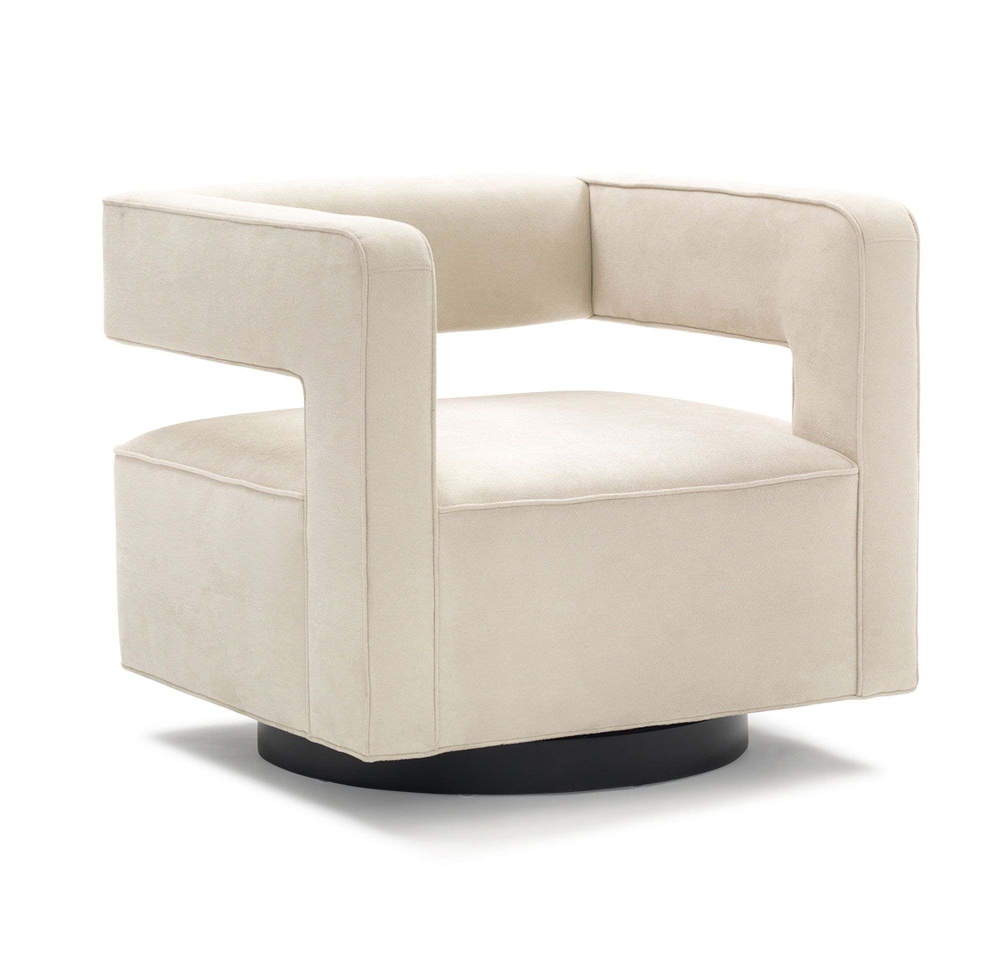 NICO FULL SWIVEL CHAIR, SOFT SUEDE - STONE, hi-res | Beach Modern ...