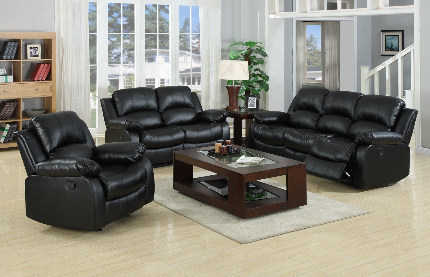 Groovy Valencia Black Recliner Leather Sofa Suite 3 2 Seater Brand Creativecarmelina Interior Chair Design Creativecarmelinacom
