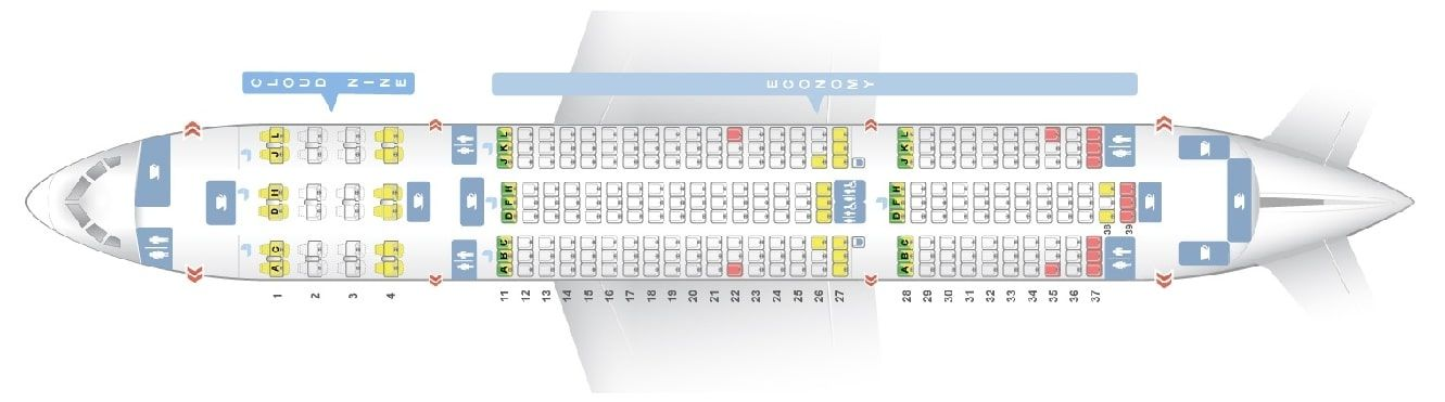 Seat Map And Seating Chart Boeing 787 8 Dreamliner Ethiopian