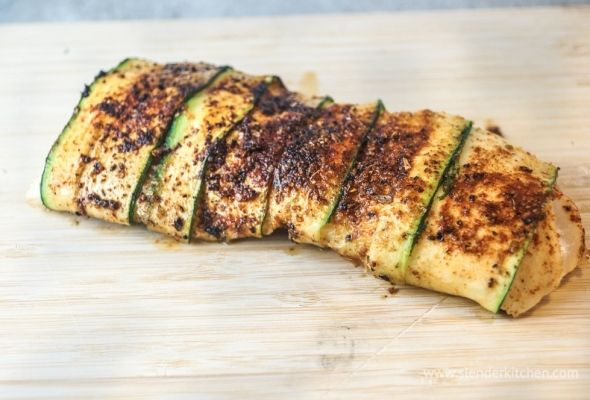 Blackened Zucchini Wrapped Fish for under 200 calories