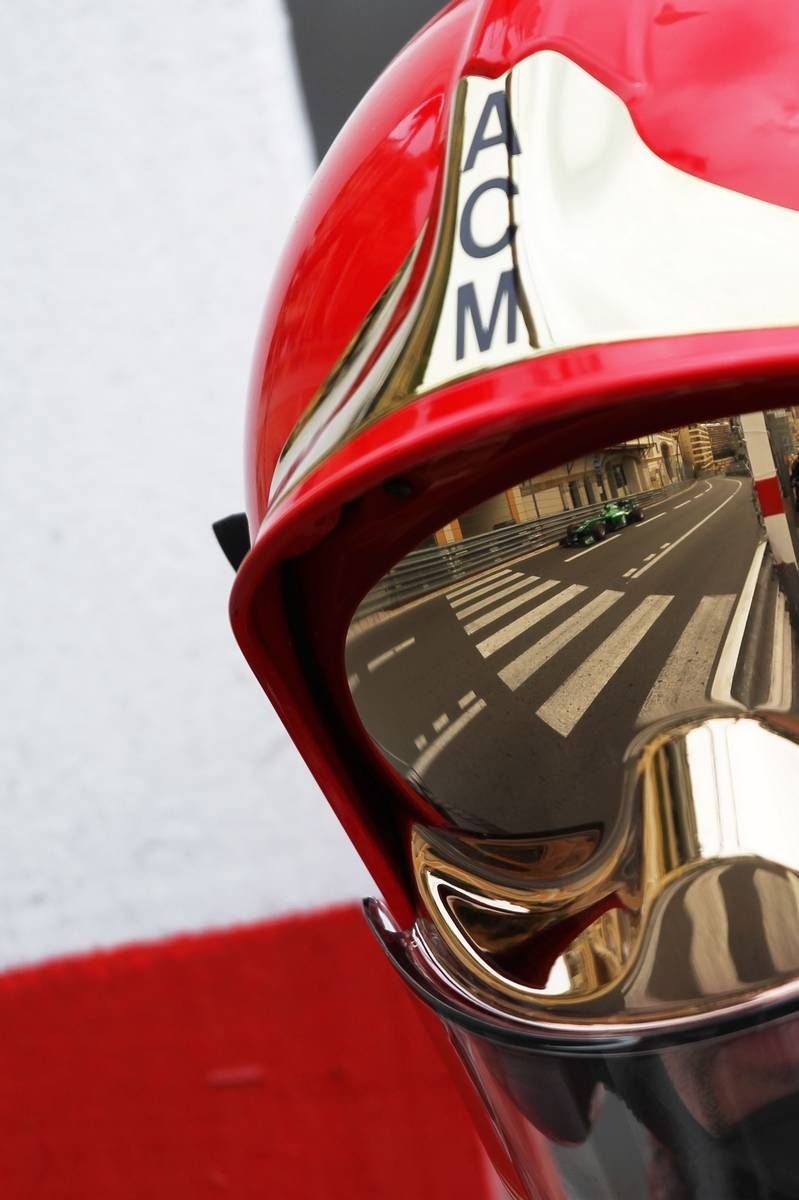 #Monaco F1 Fire Marshall Helmet #luxuryf1 #Montecarlo Grand Prix