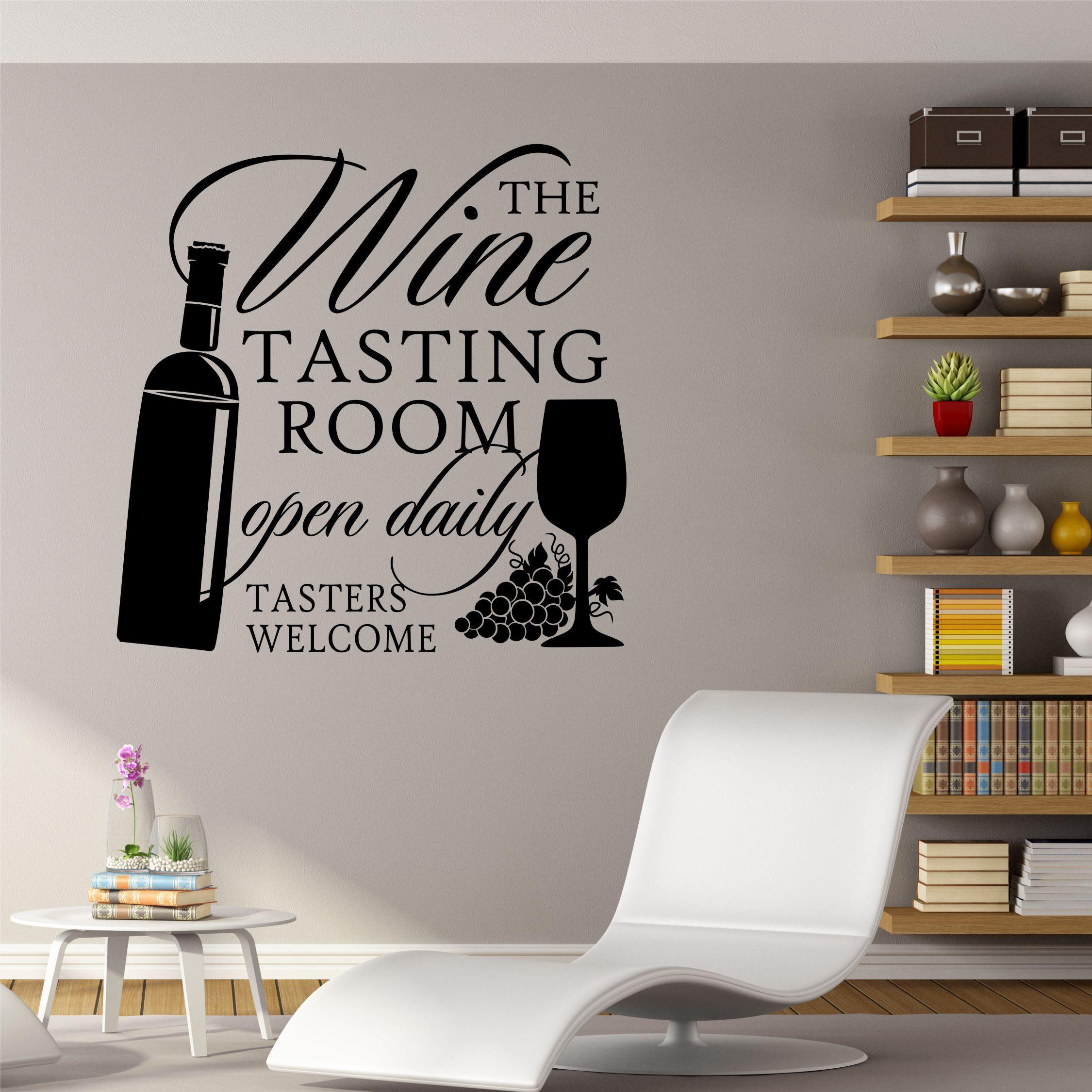 Kitchen Wall Decal The Wine Tasting Room Farmhouse Vinyl Wall