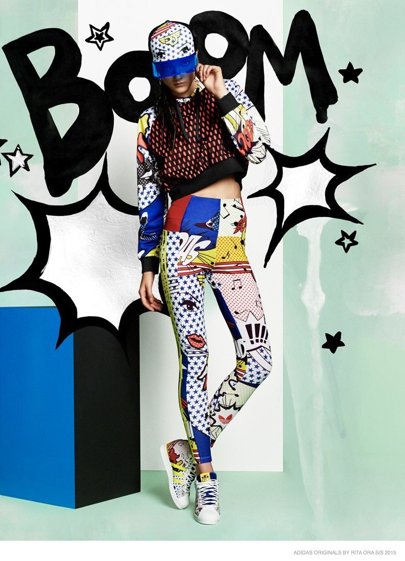 separation shoes 2bf1b 38524 Rita Ora Links Up with adidas Originals for Pop Art Inspired Spring  Collaboration  Popart  Inspiration