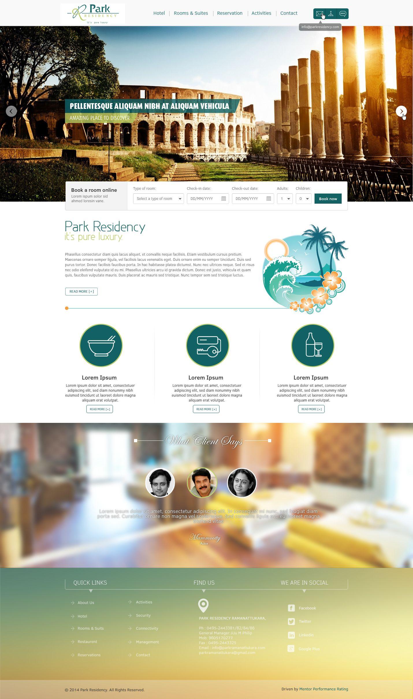 Hotel Webpage Design