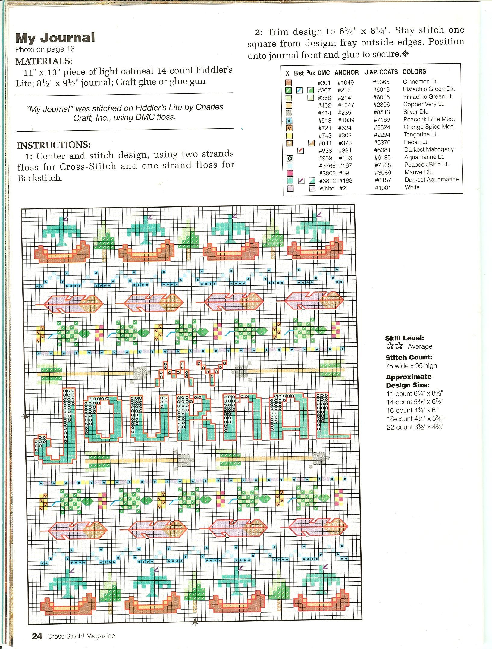 Cross Stitch Magazine Number 36 - Page 23 journal instructions