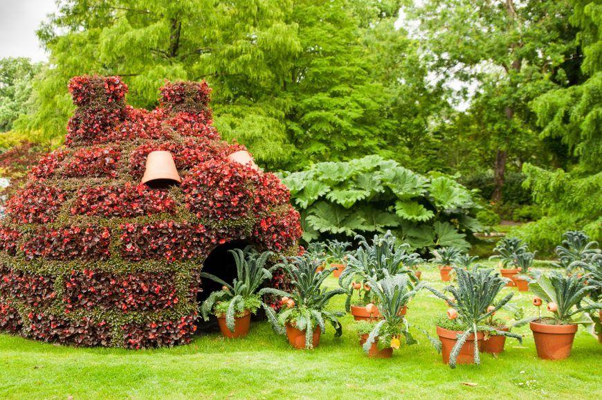 Pin auf Pflanzenskulpturen