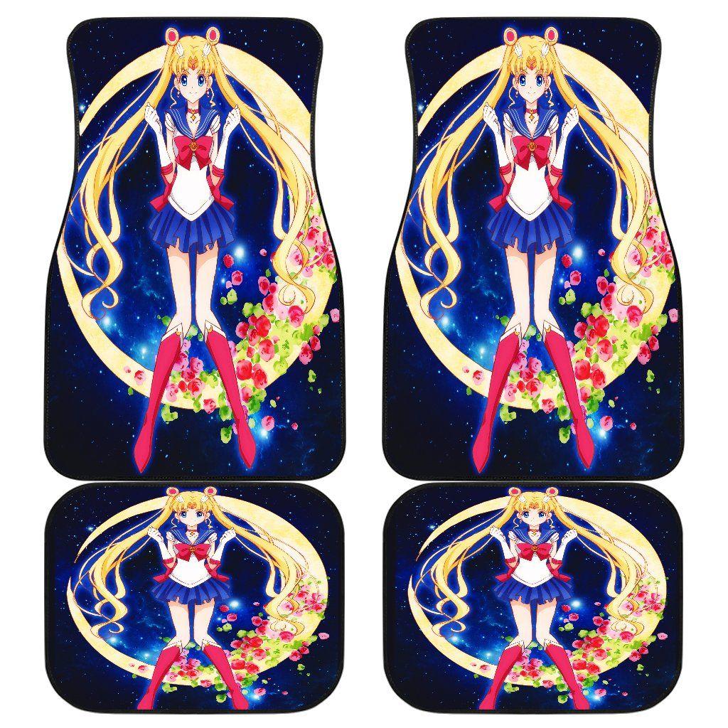 Sailor Moon Front And Back Car Mats Car Floor Mats Car Mats Floor Mats
