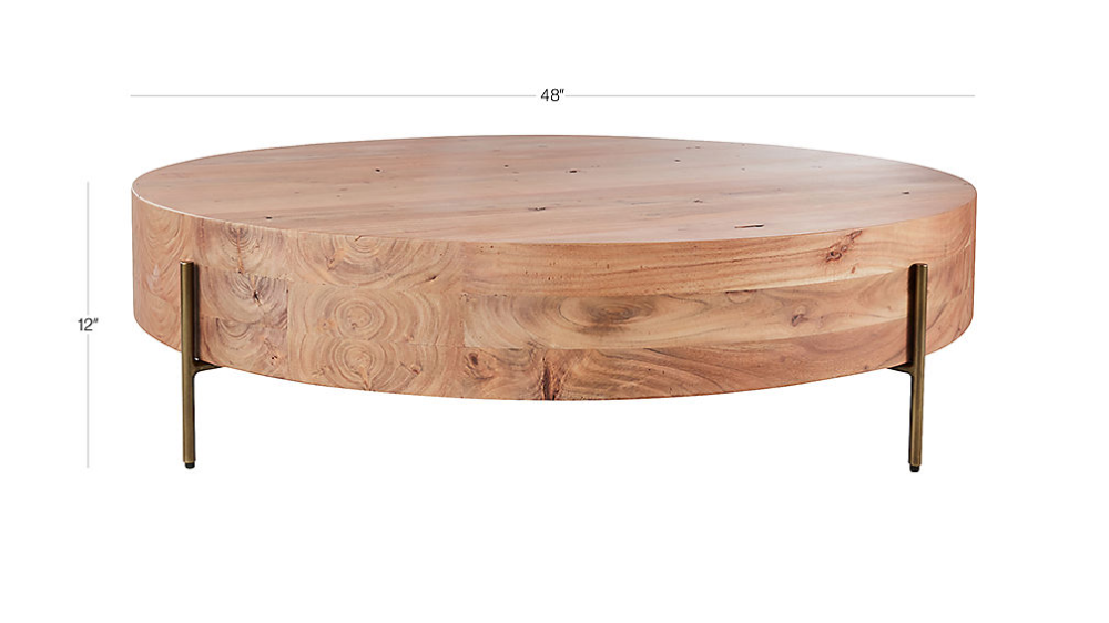 Proctor Low Round Wood Coffee Table In 2020 Round Wood Coffee