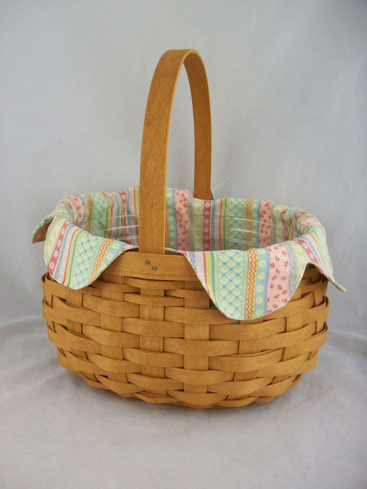 Longaberger 2008 Large Easter Basket Combo Warm Brown