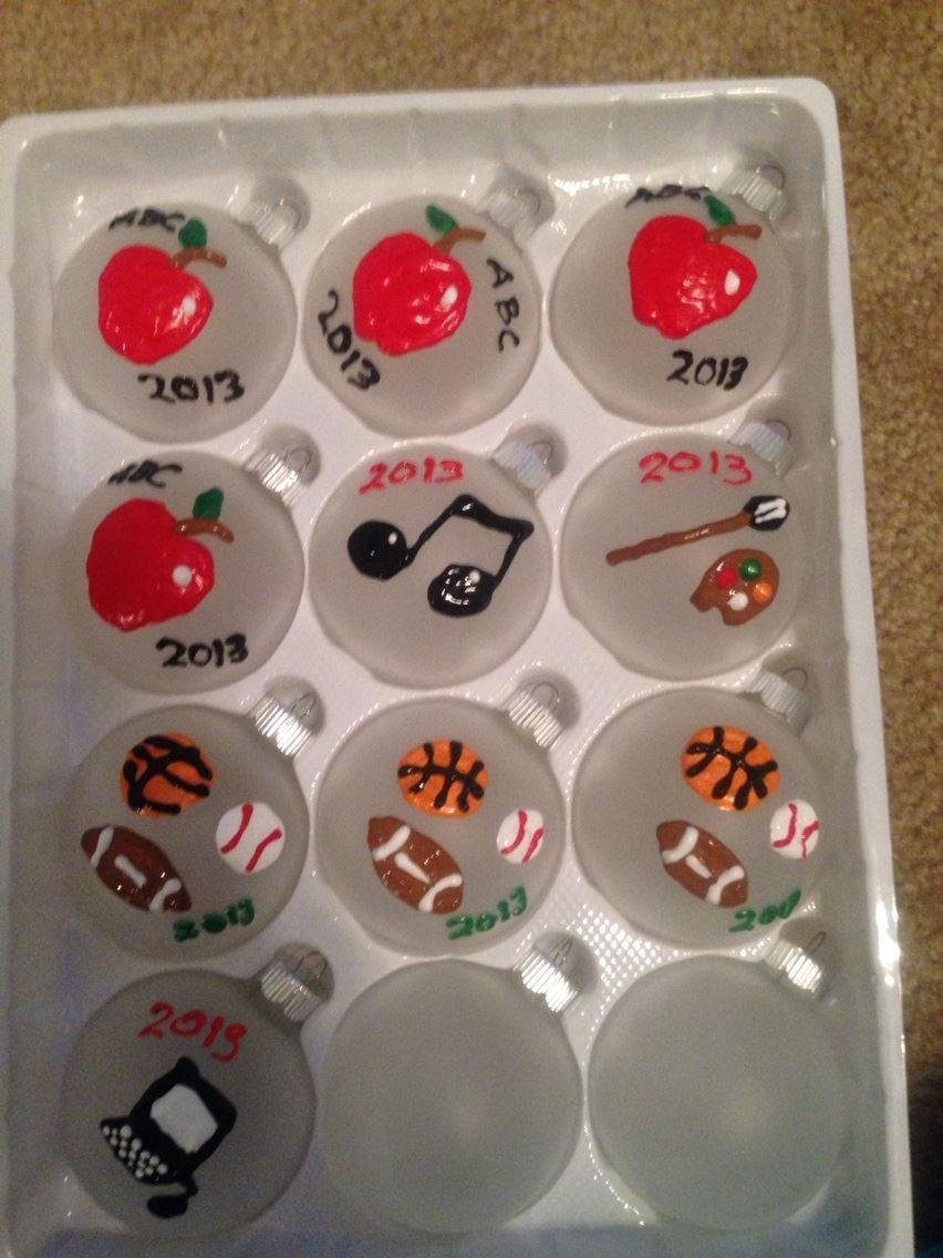 Ornaments for Teacher, PE Teacher, Music teacher, Art
