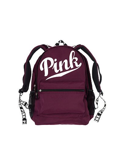 VS PINK Campus Backpack (Black Orchid) … | Pinteres…