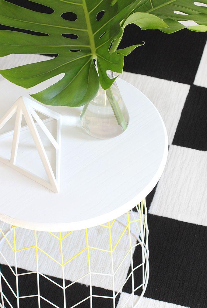 MY DIY | Wire Basket Side Table | I SPY DIY