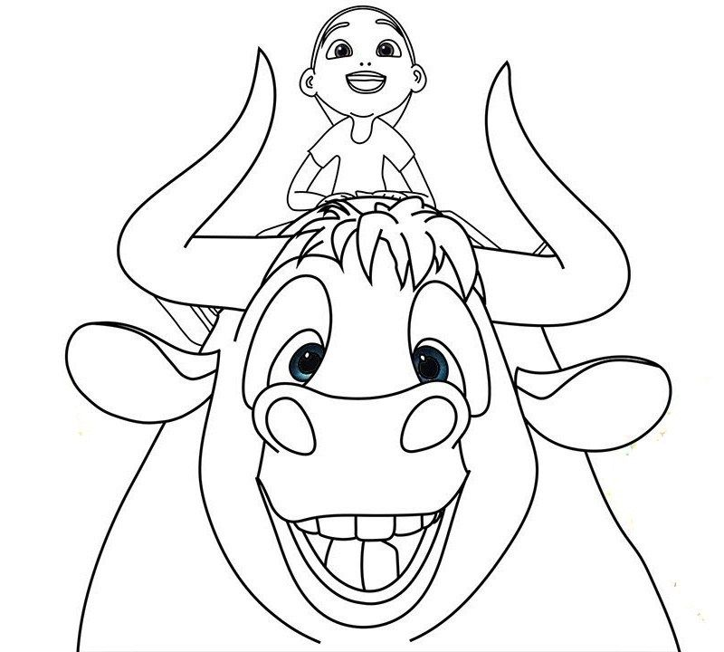 Ferdinand The Bull Movie Coloring Sheets For Children Horse