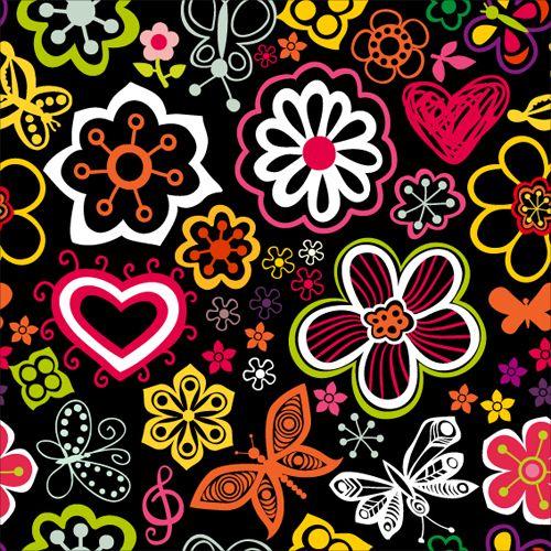 set of flower pattern vector art 02 print design pinterest rh pinterest co uk vector flower pattern free vector flower pattern cdr
