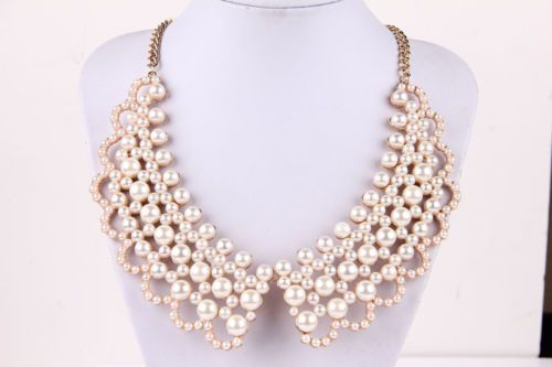 New Hot Lady Pearl Rhinestone Bubble Bib Charm Statement Necklace 6 Style | eBay
