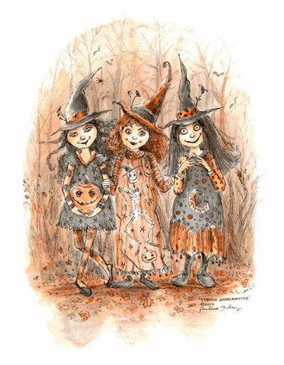 Тебе, прикольные картинки с тремя ведьмами