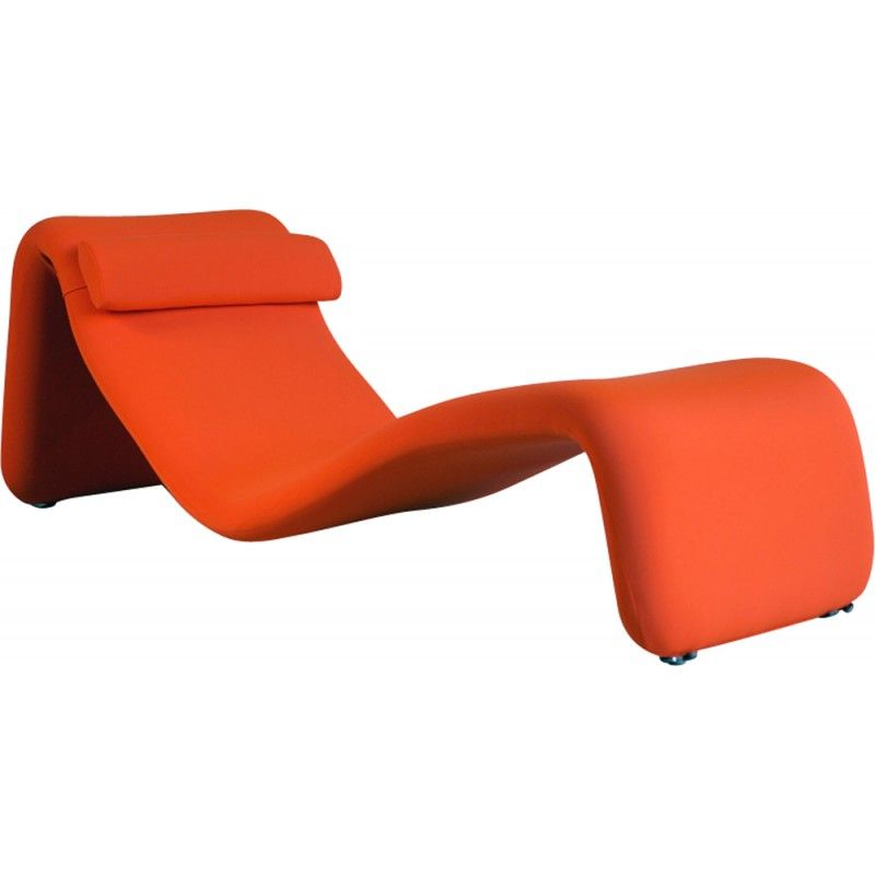 Chaise Longue Djinn Orange Par Olivier Mourgue Pour Airborne 1960 Design Market Chaise Longue Chaise Structure Metal