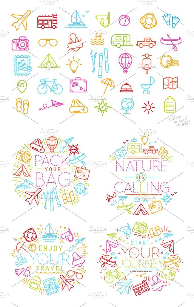 Travel flat icons Flat icon, Travel themes, Travel flats