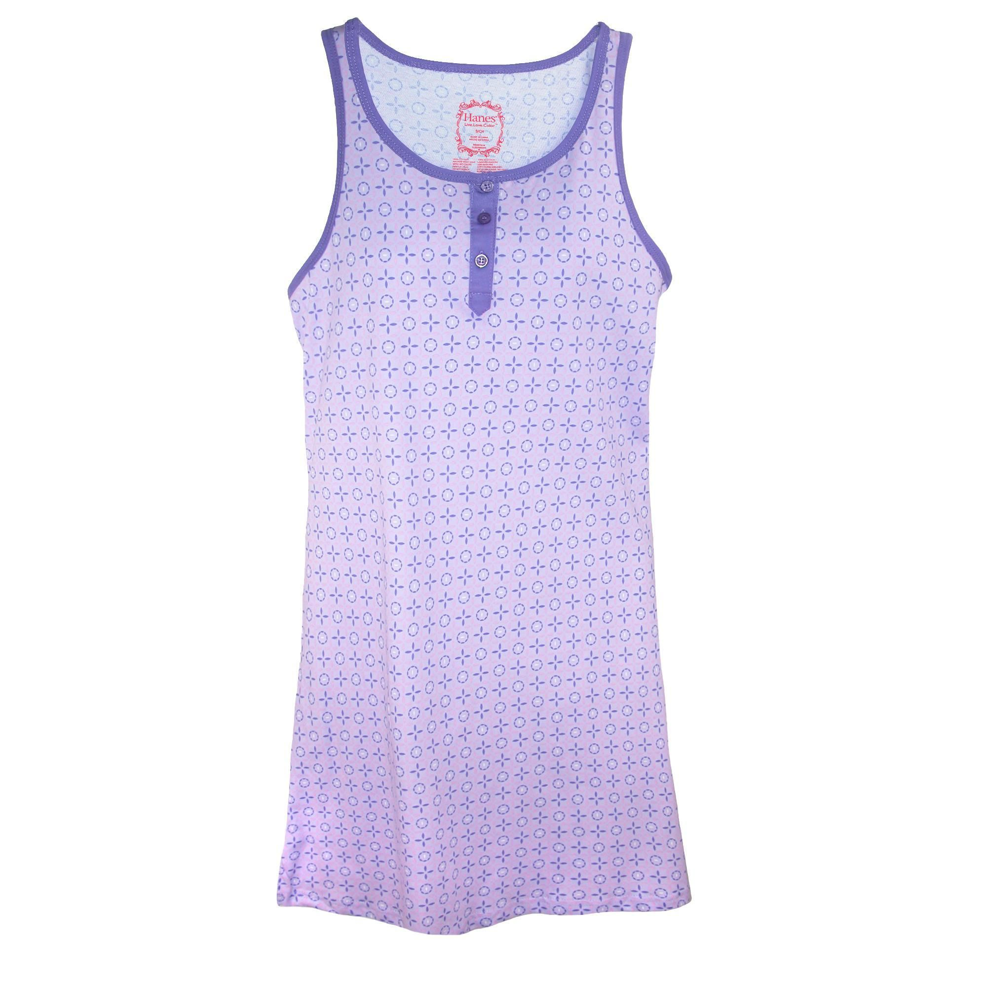 Hanes womenus sleeveless night gown tank in products