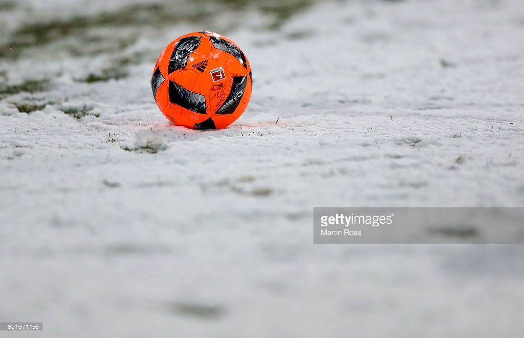 The match ball is pictured during the friendly match between Eintracht Braunschweig and Werder Bremen at Eintracht Stadion on January 14, 2017 in Braunschweig, Germany.