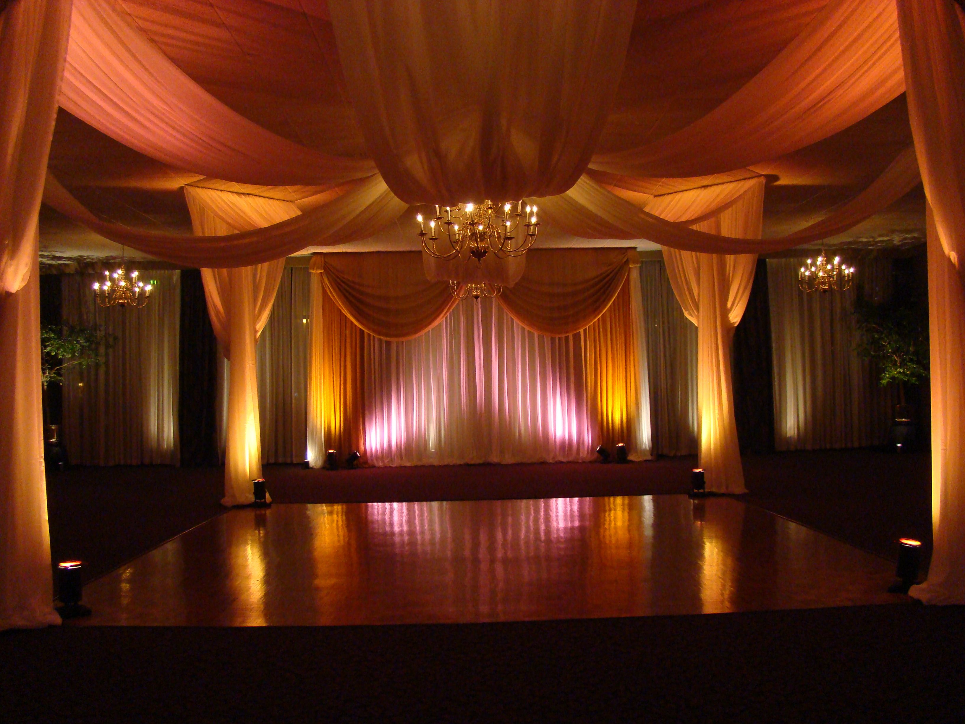 University Club Canopy Over The Dance Floor And Drapery Up Lights