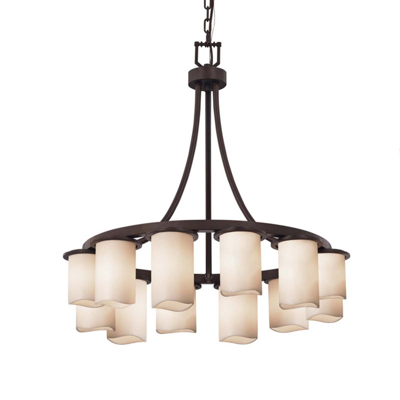 Justice Design Group Candlearia Dakota Cndl 873 Downlight Cylinder With Melted Rim Shade Chandelier Justice Design Chandelier Shades Candle Shades