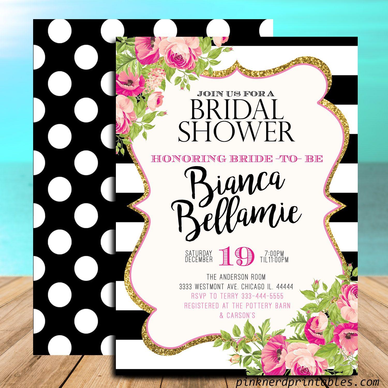 Bridal Shower Invitation Kate Spade Inspired Bridal Shower