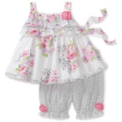 Biscotti Baby-Girls Infant Butterfly Garden Top And Pant Baby Set $62.00